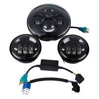 Новый 7 40 Вт светодио дный LED светодио дный море светодиодный луч DRL головного света + пара 4,5 Вт 30 противотуманные огни для Harley