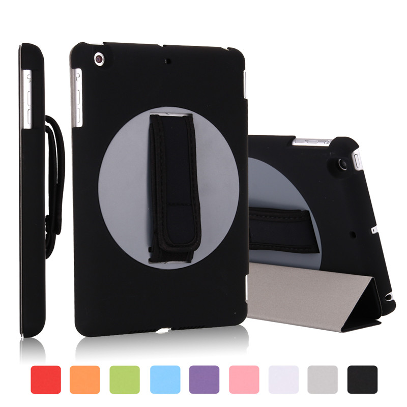 for ipad air 1 Case,Business Type One-handheld 360 Degree Rotating Holder Smart Cover With Adjustable Strap For ipad air 9.0inch universal 360 degree rotatable car air vent holder for cell phone black