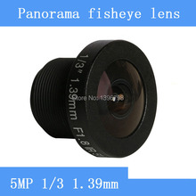 CCTV lenses 5MP 1/3 HD 360 1.39 mm fisheye panoramic surveillance camera 185 degrees wide-angle lens