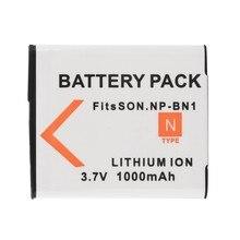 1Pcs 3.7V 1000mAh NP-BN1 NP BN1 NPBN1 Rechargeable Digital Camera Battery For Sony TX9 WX100 TX5 WX5C W620 W630 W670 TX100
