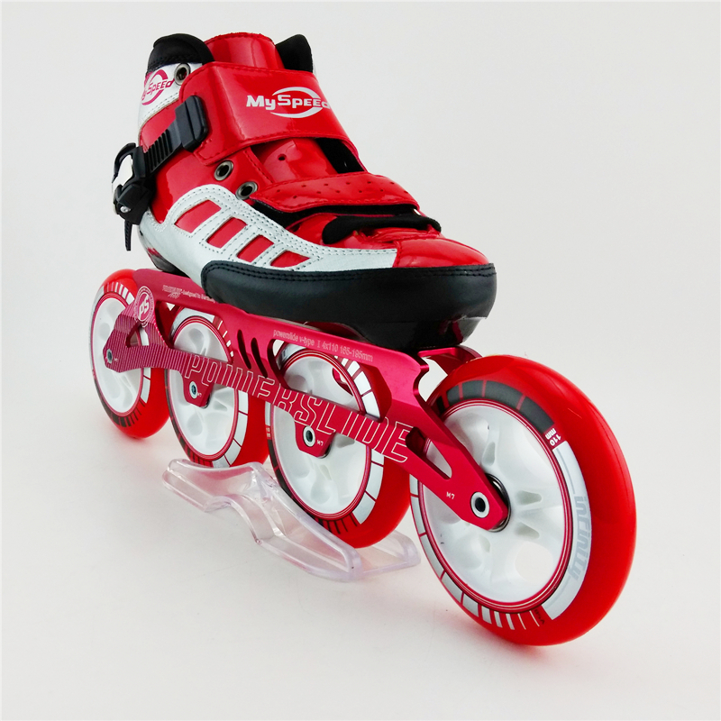 4 Wheel Roller Skates Adult Professional Inline Speed Skates High Quality Mens Speed Skating Skates Patins adult s roller skates inline skating f2 2013 white and black flying eagle f2