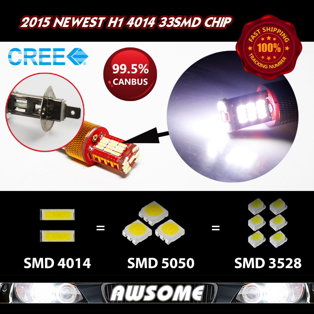 Latest Style!! 10x H1 Fog Driving DRL Daytime Running Headlight Lamps 33smd 4014 Super Strong White