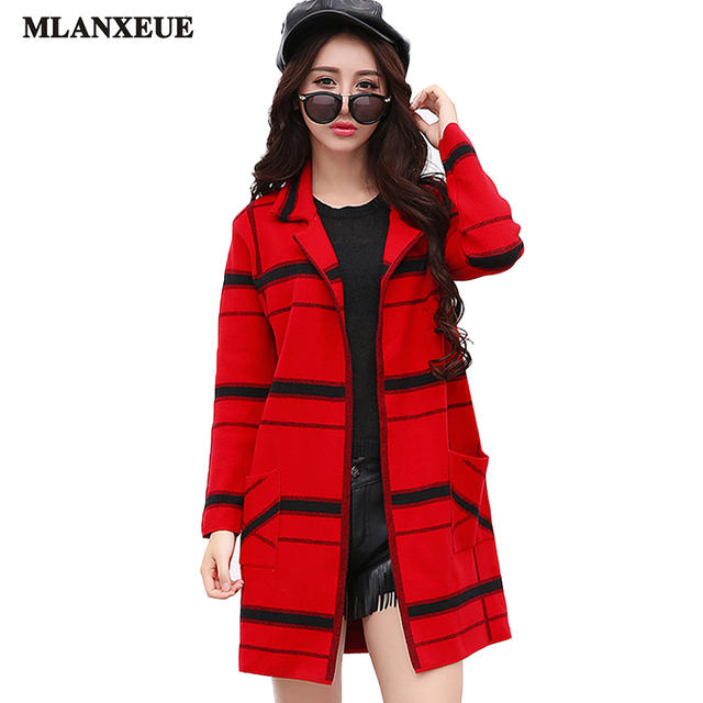 Women's Windbreaker Winter Fashion Jacket Casual Long Jacket Elegant Keep Warm Lattice Coat Loose Cardigan Coat Windbreaker