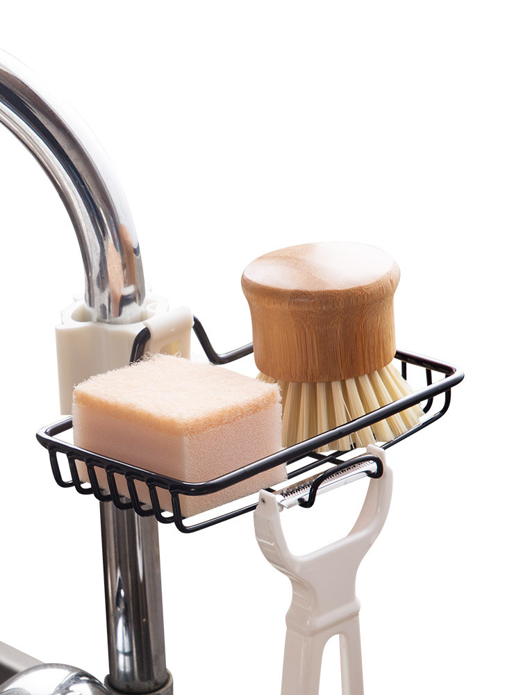 Bathroom Holder Kitchen Storage Sink Shelf Soap Sponge Drain Faucet Rack Suction Cup Kitchen Organizer Sink kitchen Accessories