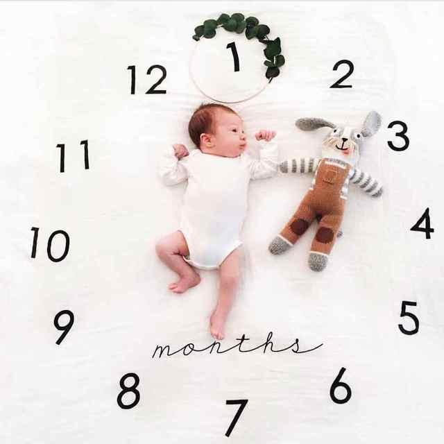 Newborn Baby Anniversary Blanket Photography Background Prop
