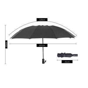 Image 2 - Yesello מתקפל הפוך מטריית גשם נשים גברים גדול Windproof שחור ציפוי שמש מטריות מתנות שמשייה אוטומטית BusinessUmbrla