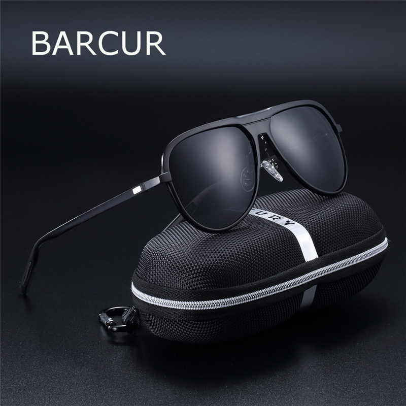 Light Weight Male Sunglasses Black Aluminum Magnesium Sun glasses Women UV400 Protection HD Polarized Oculos de sol