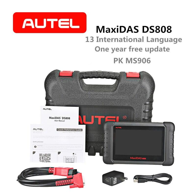 Autel MaxiDAS OBD2 DS808 Auto Ferramenta de Diagnóstico do Scanner Leitor de Código de Chave de Codificação versão Avançada de Mesma Função como MS906 DS708
