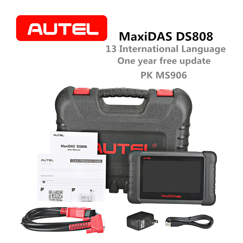 Outil de Diagnostic automatique Autel MaxiDAS DS808 lecteur de Code de codage de clé de Scanner OBD2 version avancée de DS708 même fonction que MS906