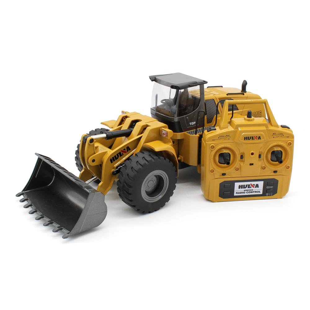 Huina RC Huina 583 Scale 1:14 Earth Movement 2.4Ghz 10 Channel metal rc bulldozer Model Remote Control Toys Alloy Truck
