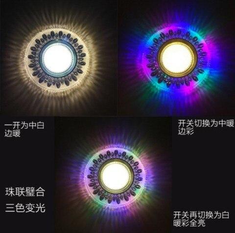 cob downlight led colorido luz do painel rgb 4 w 110 v 220 v 230