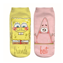 Squarepants Patrick Star funny Unisex Men Women Socks Comfortable summer thin Cotton Sock Short Ankle fashion soft gifts