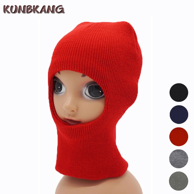New Children Kids Winter Face Mask Warm Sports Knitted Thermal Hat