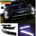 eeMrke High Power LED DRL For Subaru Forester 2013 White DRL Fog Cover Daytime Running Lights Kits
