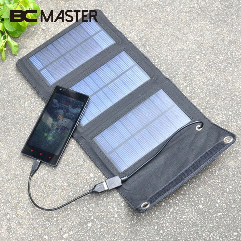 BCMaster 5W 5V Foldable Solar Panel Bank Battery Charger USB Solar Power Panel Bank for Smart