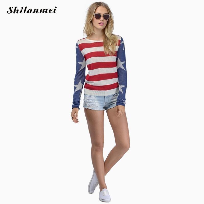 Лидер продаж Для женщин вязаный кашемировый свитер в полоску красные женские Зимняя одежда пуловер универсальная рубашка Для женщин Свите...
