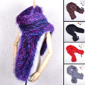 Women Scarf Genuine Knitted Natural Whole Fox Fur Hot Sale Fashion Real Fur Woven Scarf Shawl Wrap Stole Winter Warm