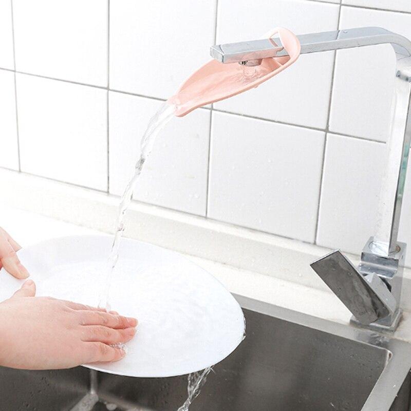 1 Pc Kunststoff Wasserhahn Glücklich Spaß Extender Baby Wannen Kinder Hand Waschen Waschbecken Geschenk Mode Und Bequem Ausgereifte Technologien