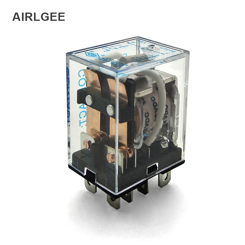 цена на JQX-13F-2Z 8 Pin Terminals 2NO+2NC AC240V DC28V 10A Contact Capacity DC12V Coil Mini Middle Electromagnetic Relay Free Shipping