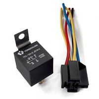 5 Set SPDT 5 Pin 5 Wire Relay Socket DC 12V 40A For Car Truck Control