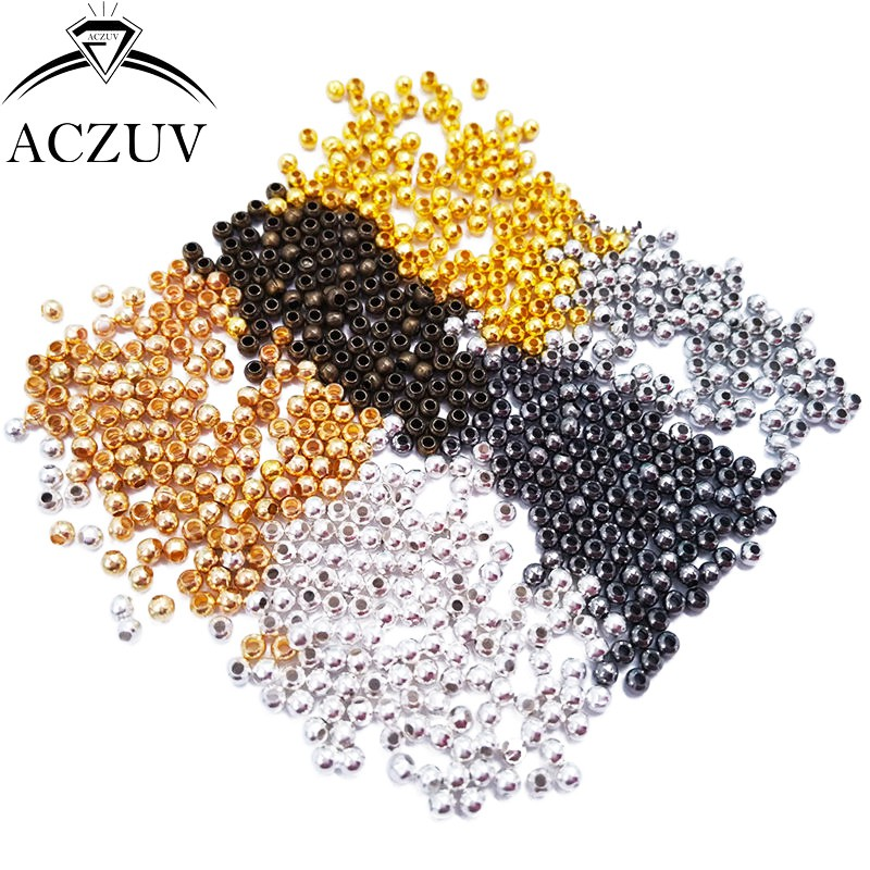 10000pcs Jewelry Spacers 2mm 3mm 4mm 5mm 6mm 8mm 10mm Round Spacer Beads Findings Accessories Free Shipping JSB001
