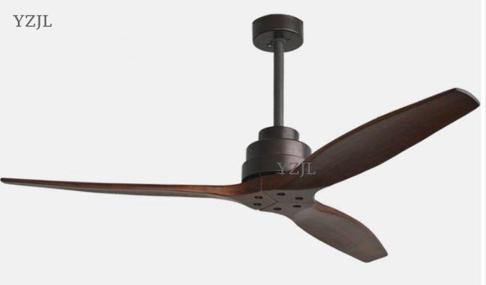 A distanza di controllo Ventole lampadario di casa soggiorno muto camera in legno massello fan lampadario luci Americano antico retro Cinese luce fan