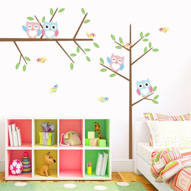 Muurstickers Kinderkamer Uil.Nieuwe Aangekomen Tak Uil Muurstickers Kinderkamer Decoratie