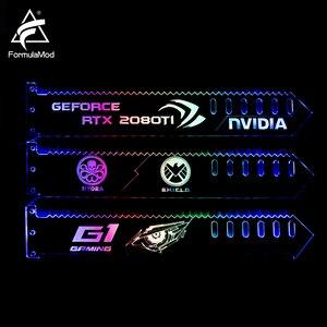 Image 2 - FormulaMod Fm QJD, RGB GPU בלוק אקריליק סוגריים, דקורטיבי צלחות GPU מחזיק, 5 v 3Pin RGB Synchronizable האם תאורה