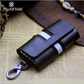 2017 New Women and Man  Key Wallets 3 Color Key Holder Head Layer Leather Causal  Printing Key Bag High Quality Solid  Key Case