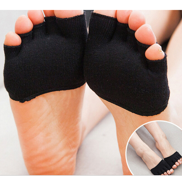 1 Pair Invisible Non Slip Toe Half Grip Heel Five Finger Socks Health Care Accessories  Feet Care Tools 3