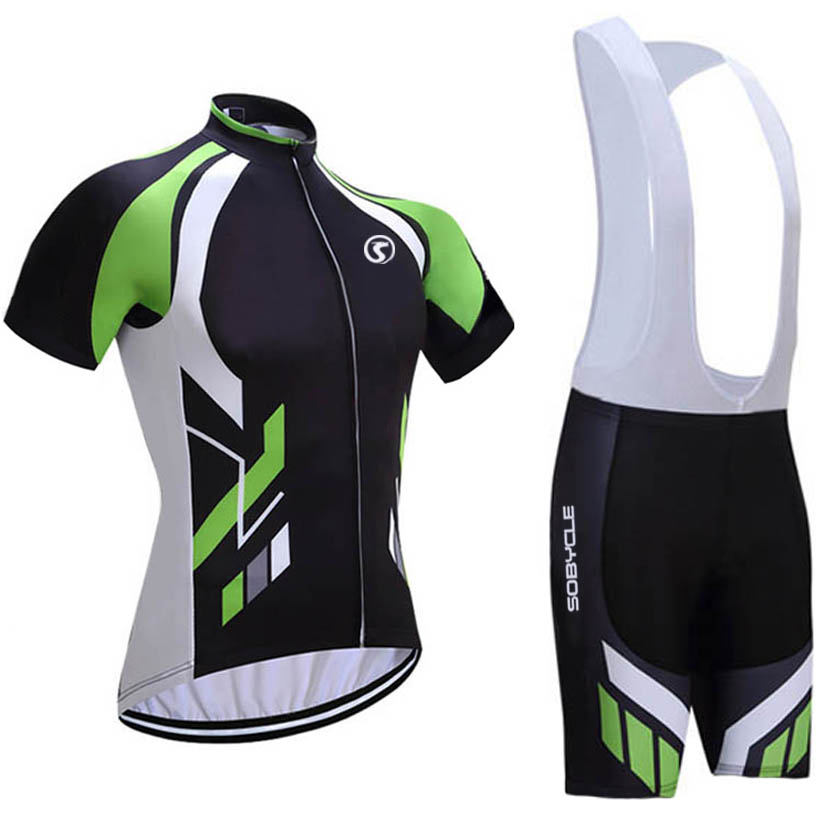 2018 Brand sobycle team Green pro cycling jersey 9D pad bike shorts suit Ropa Ciclismo mens summer bicycling Maillot wear