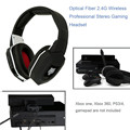2.4G Wireless stereo Gaming Headset with microphone for Xbox One Xbox 360 PS4 PS3 & 7 in 1 Fiber Decoding HIFI Game Headphone PC