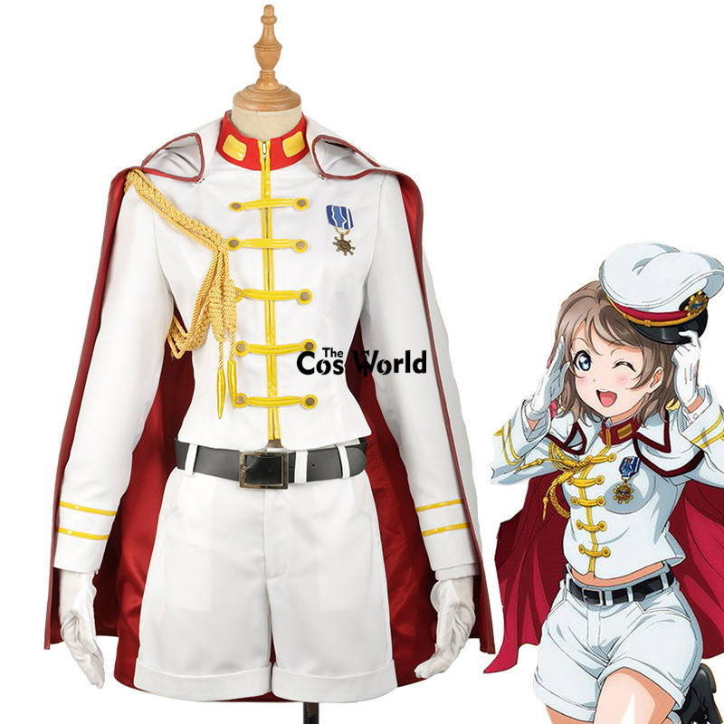 Love Live Sunshine Aqours Watanabe You Jacket Coat Tops Outwear Pants Uniform Outfit Anime Cosplay Costumes