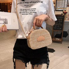 Small Round Weaving Straw Crossbody Bag Women Designer Fashion Rattan Famous Brand Weave Shoulder Bags Purse