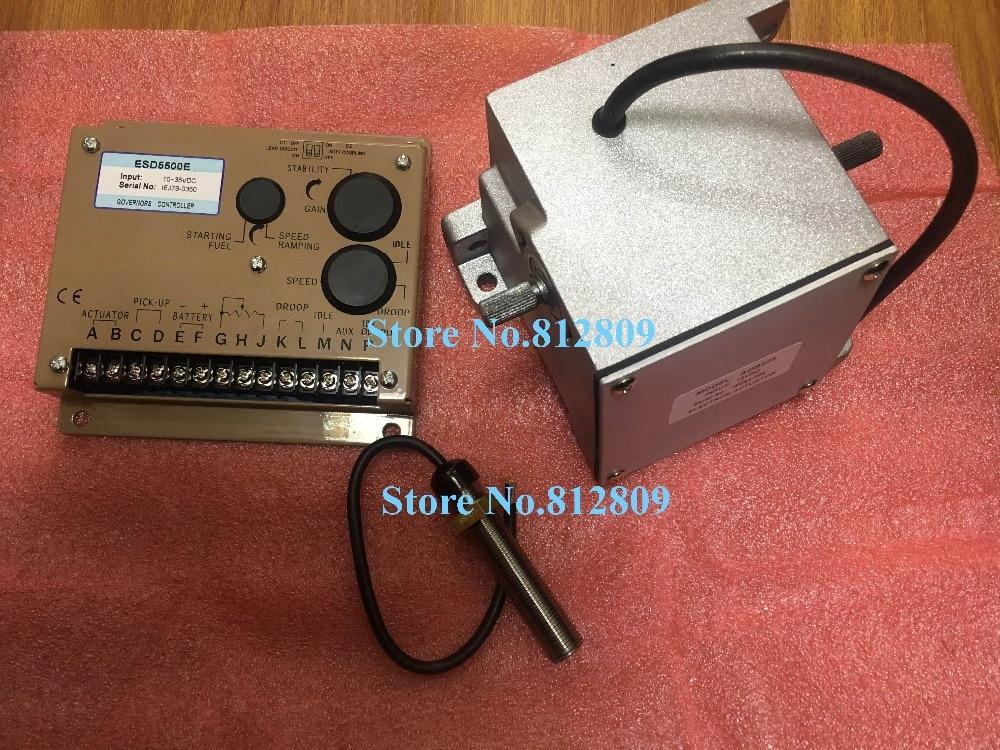 ADC225-12V or ADC225-24V alternator actuator ADC225 (12V / 24V) optional Electronic governor Kit with ESD5500E and 3034572 esd5500e series speed governor with generator actuator adc225 12v or 24v adc225 12 and speed sensor 3034572