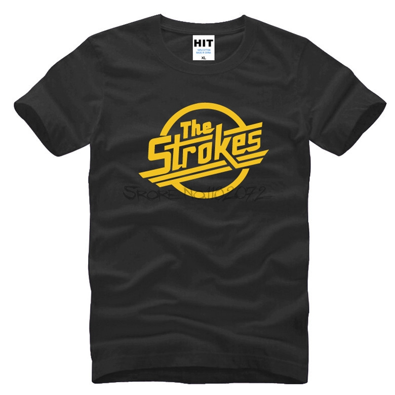 t-sihrt 3d The Strokes T Shirt Men Indie Rock Band Men T-shirt Short Sleeve Cotton Casual Music T Shirts Men Rock Clothing Футболка