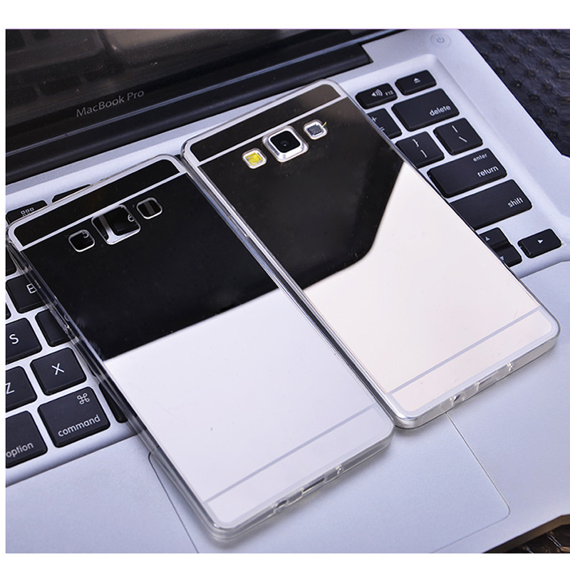 Dreamysow Ultra Slim Luxury Mirror Electroplate Soft TPU Clear Bling Case For Samsung Ga ...