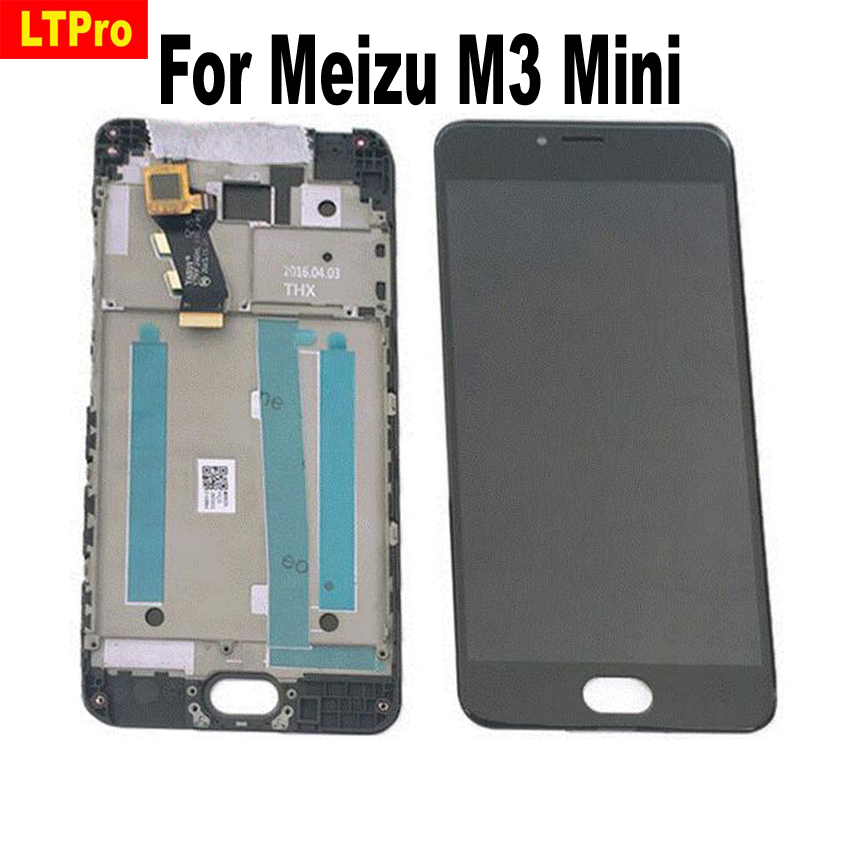 LTPro High Quality New LCD <font><b>Display</b></font> + Digitizer Touch Screen Assembly With Frame For <font><b>Meizu</b></font> <font><b>M3</b></font> <font><b>mini</b></font> Cellphone 5.0