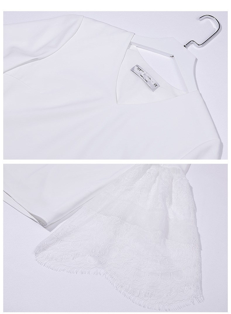 See Orange Deep V Neck Womens Tops And Blouses 2018 Sexy Lace Ruffles White Shirt Women Summer Top With Hollow Out Belt SO1169
