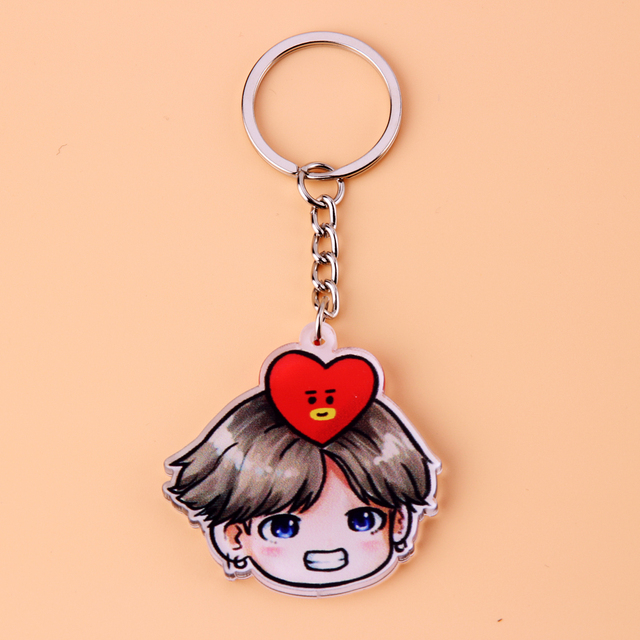 Acrylic Anime Cute Keychain Love Yourself Porte Clef Key Chain