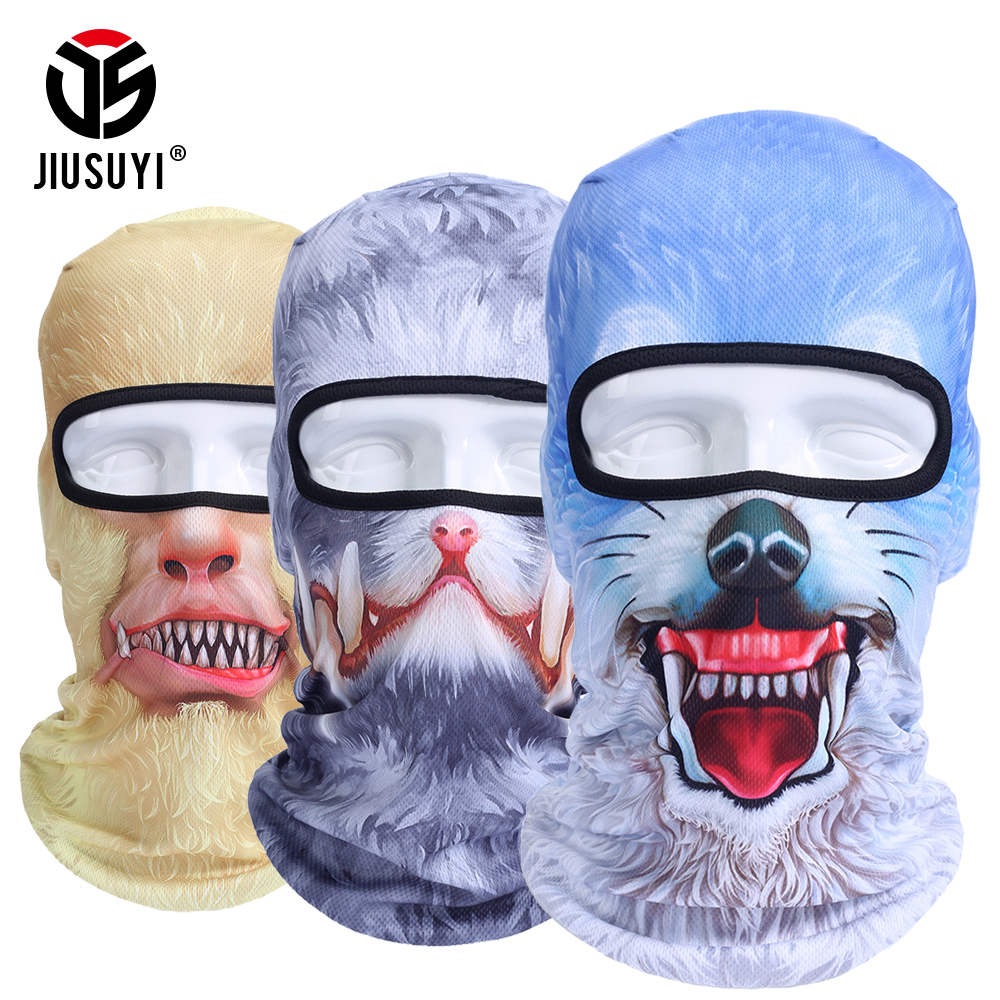 3d Animal Pattern Face Mask Bicycle Bike Hats Snowboard Tiger Party Halloween Helmet Liner Winter Warmer Pet Full Face Mask M25 Wide Selection; Cycling Face Mask