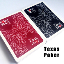 2 Sets/Lot Texas Hold'em Plastic Playing Card Game Poker Cards Waterproof and Dull Polish Poker Star Board Games a Replacement цена