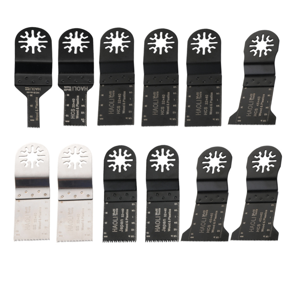 FREE SHIPPING: (12pcs/set) Wood working Oscillating Multi tools Saw Blades Accessories fit for Multimaster power tools as Dremel 10pcs jig saw blades reciprocating saw multi cutting for wood metal reciprocating saw power tools accessories rct