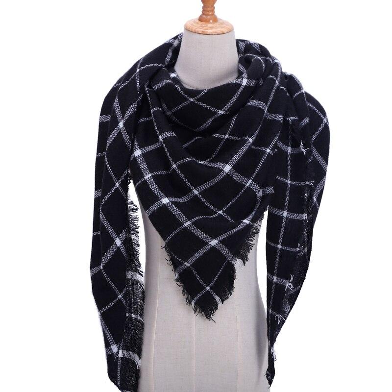 Бандана палантин платок на шею шарф зимний Дизайнер трикотажные весна-зима женщины шарф плед теплые кашемировые шарфы платки люксовый бренд шеи бандана пашмина леди обернуть - Цвет: b4