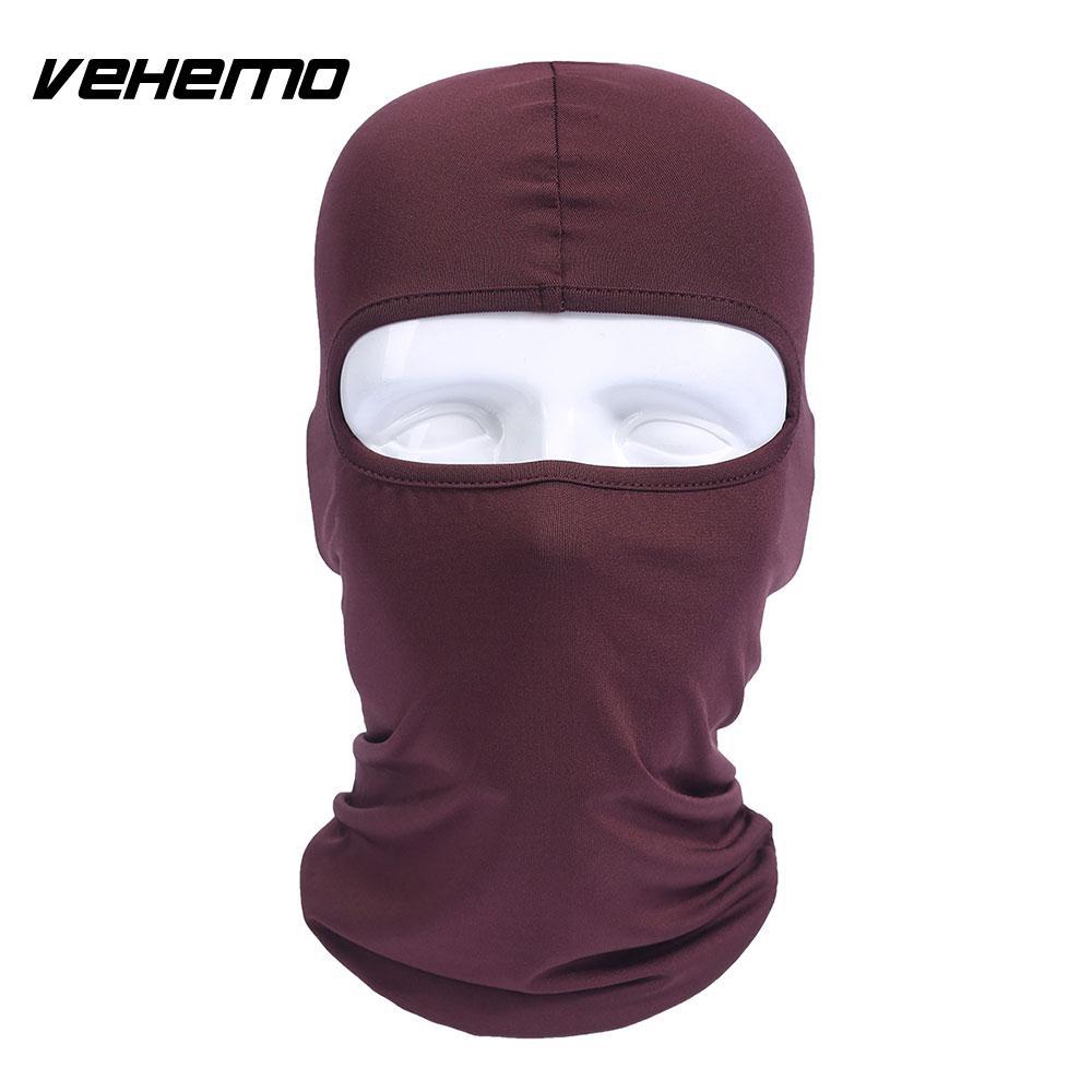 Vehemo аксессуары для улицы полная мотоциклетная маска для защиты лица шапки унисекс 14 цветов Практичная Балаклава лайкра защита удобный - Цвет: brown