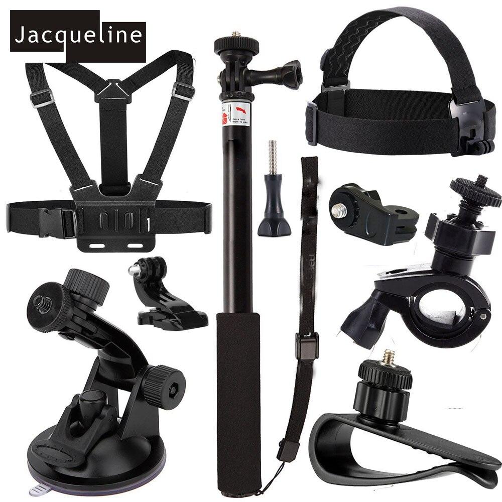 Jacqueline para Ion Air pro kit accesorios para Sony acción CAM HDR AS200V AS30V AS100V AS20 AZ1 mini FDR-X1000V/ w 4 K para Yi