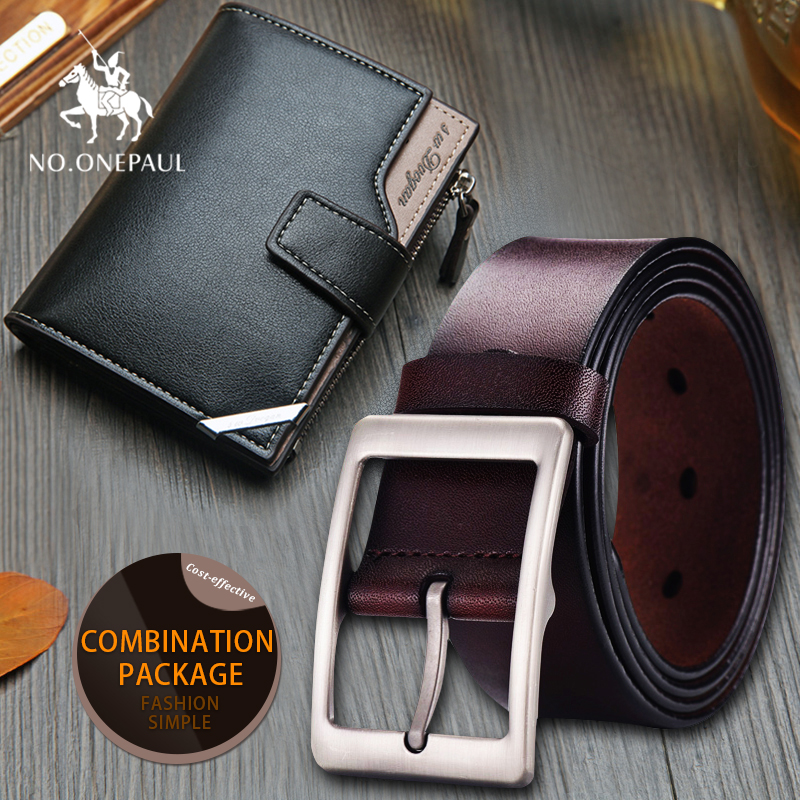 Set/sets Suit Fashion Men Casual Genuine Leather Belt High Quality Cowhide Retro Buckle Belt New Design Black Belts  Vintage Men