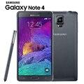 "Оригинальный Разблокирована Samsung Galaxy Note 4 N910 N9100 LTE 4 Г Мобильный Телефон 16.0MP 5.7 ""NFC 3 ГБ RAM 16 Г/32 ГБ ROM Android-Смартфон"
