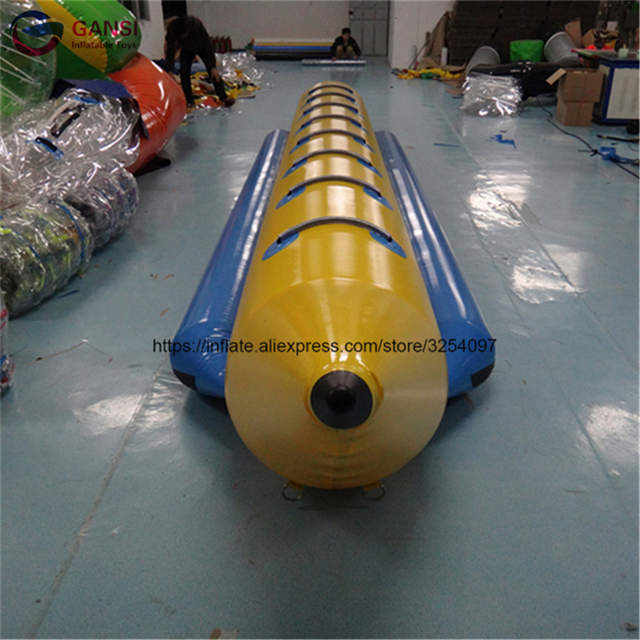 Hot sale 8 persons inflatable flying banana boat floating flying fish boat water equipment one tube inflatable water towable