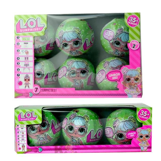 3 шт 6 шт 10 см мульти-Функция Kawaii блеск кукла LOL кукла Цвет изменить яйцо мяч Наряжаться игрушка фигурку Куклы Веселый малыш подарок